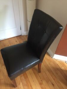 *** MOVING SALE!!! SET OF 4 LEATHER CHAIRS*** McMaster