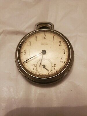 Vintage Westclox Mechanical Wind Up Pocket Watch USA Made