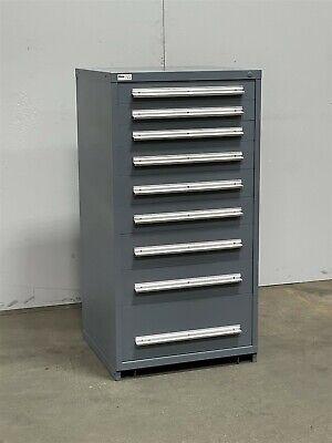 Used Stanley Vidmar 9 Drawer Cabinet Industrial Tool Storage Bin 2341