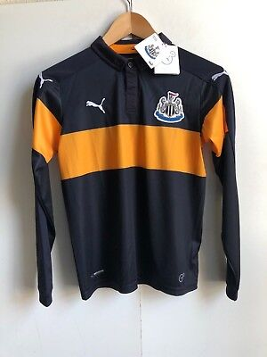Newcastle Kid's PUMA 2016/17 L/S Away Match Shirt - 11-12 Years - Navy - New