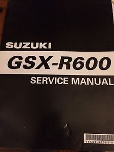 1997-2000 Suzuki GSXR600 Service Manual