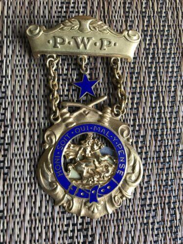 """Early 1900s Masonic Lodge """"Honi Soit Qui Mal Y Pense"""" P.W.P. Medal (1332)"""