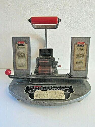 Antique 1949 The Addresserette Elliott Advertising Machine Company Printing Pres