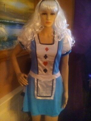 Alice In Wonderland Card Costume (CARD QUEEN ALICE DRESS COSTUME ADULT WOMAN WONDERLAND SPADE HEART DIAMOND)