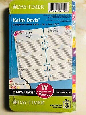 Day-timer 2020 Refill Size 3 Kathy Davis Weeklymonthly Planner 3.75x6.75