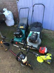 Used lawnmowers with warranty, Trimmers etc, plus servicing repairs