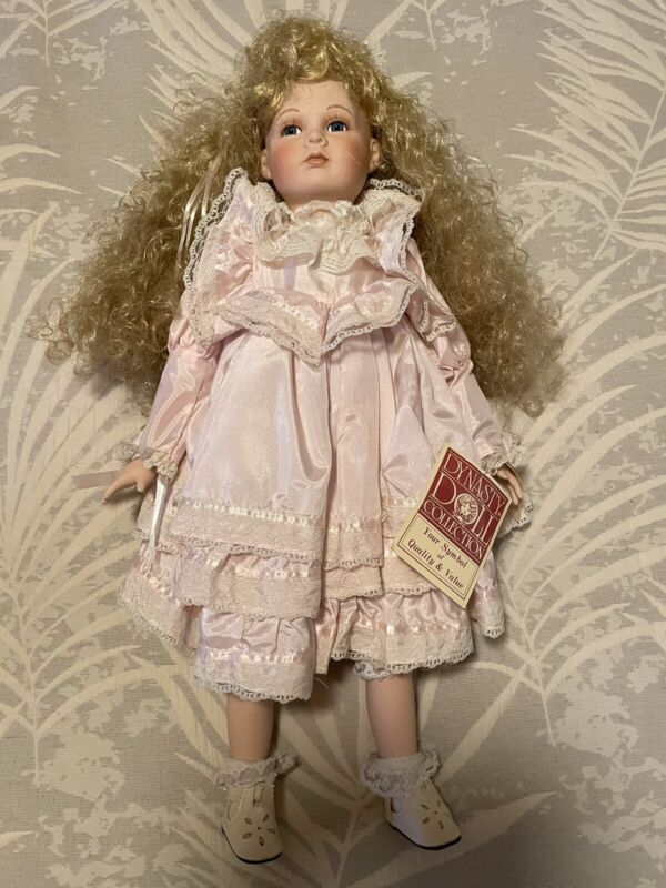 """Dynasty Doll Collection Porcelain Doll 22"""""""