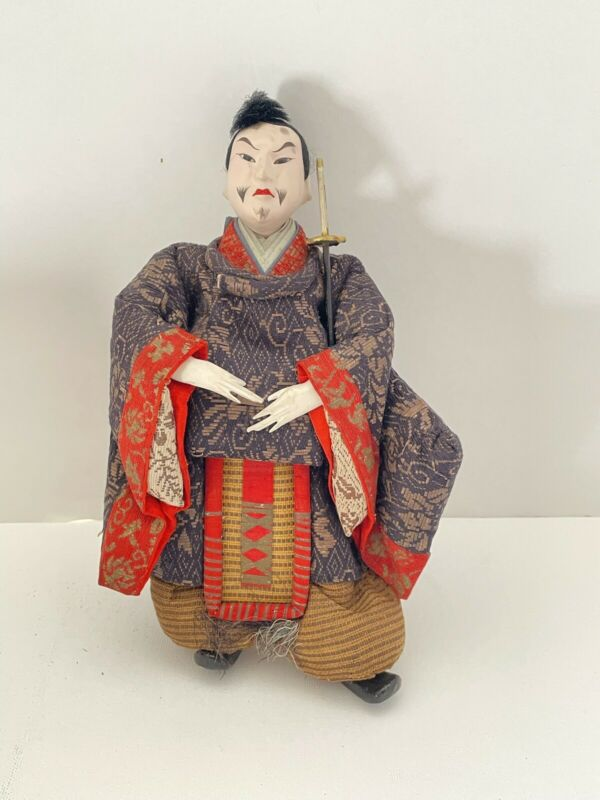 Vintage Japanese Doll: Nobleman with Sword (Z29)