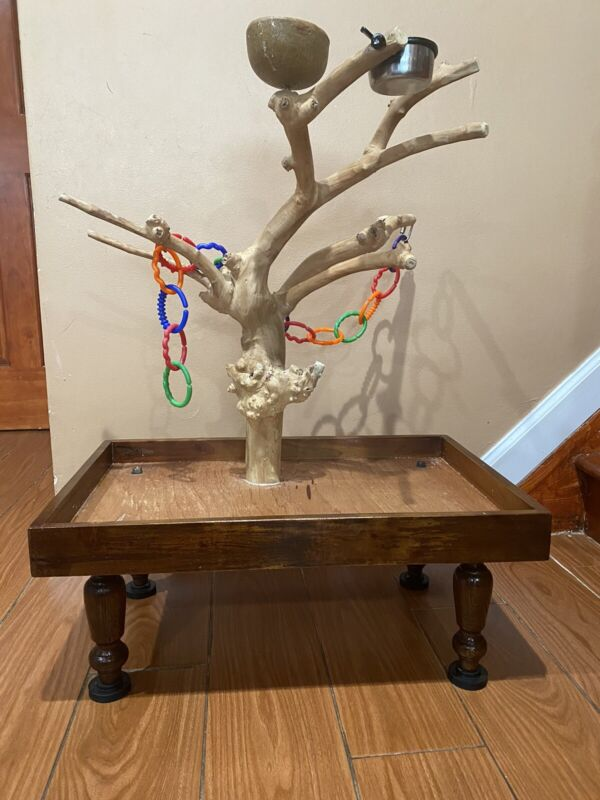 Parrot Java Tree Stand Perch Playstand Play Gym
