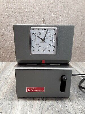 Vintage Lathem Model 2126 Digital Time Clock Punch Clock Works Tested Plug In