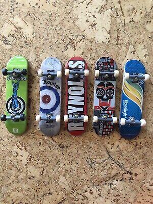 Tech Deck 3.75 Complete Skateboard Finger Board Lot 5 Boards 1 With Logo Wheels