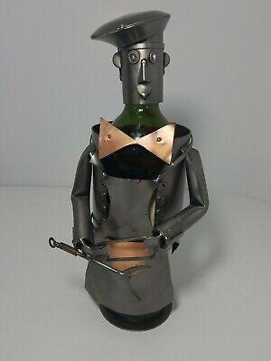 - Chef w/ Grilling Utensils Wine Bottle Holder Metal Man Grill Like Wine Bodies