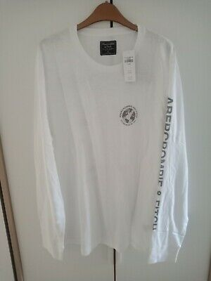ABERCROMBIE AND FITCH MEN'S LONG SLEEVE GRAPHIC TEE SIZE XL