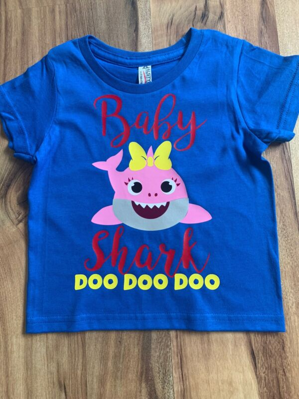 Toddler Girls 2T Baby Shark Top TShirt