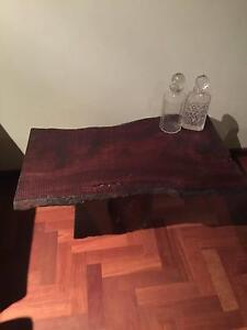 Jarrah Slab and Jarrah base coffee table Hillarys Joondalup Area Preview
