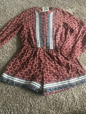 Sara Girls Clothing - Truly Me by Sara Sara Boho Romper Girls sz 10 New Nordstroms