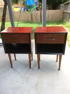 2 x Retro Bedside Tables. Annerley Brisbane South West Preview