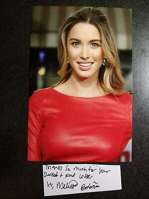 MELISSA BOLONA Hand Signed Autograph CUT With 4X6 Photo - SEXY ACTRESS & MODEL