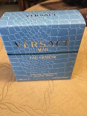 versace man eau de toilette/fraiche 1.7 fluid oz. New In Box (open Box)