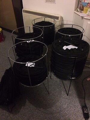 BIG LOT! Collapsible mesh net shopping retail baskets £2.50 - 5 each with stands