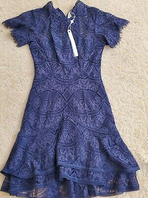 NWT Jonathan Simkhai blue Lace Mini Dress Size 4 $595.00