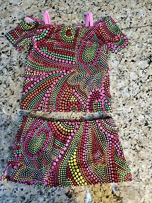 Girls Katrina Activewear 2 Division Outfit Size Child 6 Dance Gymnastics
