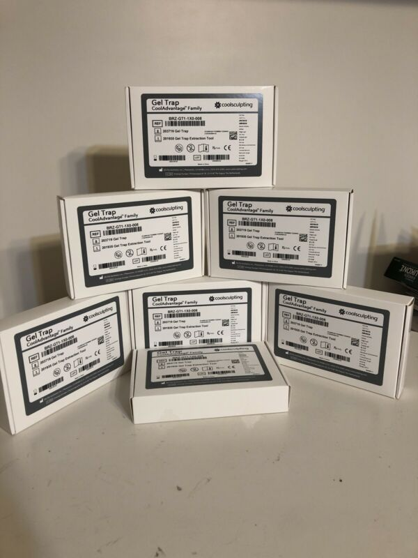 Sealed Box of 8 Zeltiq CoolSculpting CoolAdvantage Family Gel Trap