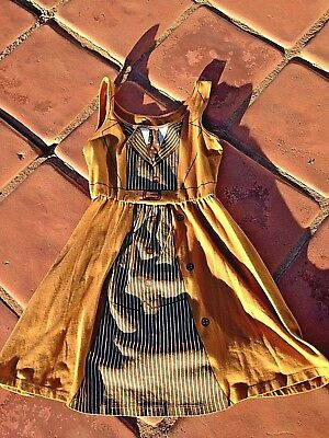 DOCTOR WHO Halloween Costume:Tan Character DRESS: Girls size Small: Dr. Who TV  - Doctor Halloween Costume Girl
