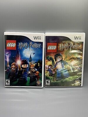 LEGO Harry Potter: Years 1-4 & Years 5-7 - Nintendo Wii - Tested -Lot of 2 Games