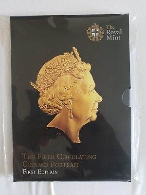 2015 Royal Mint Fifth Portrait First Edition BUNC 8 Coin Set Inc RARE £1 Coin