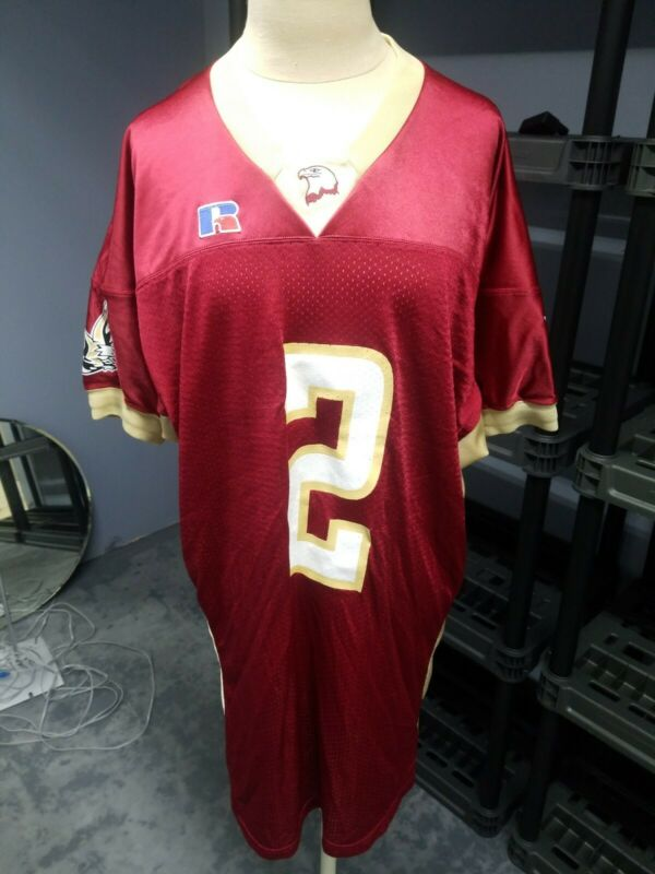 Russell Burgundy And Gold Eagle Football Jersey