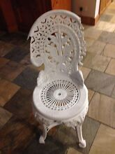 2x white plastic garden chairs Concord West Canada Bay Area Preview