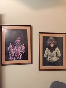 2 framed northern pictures