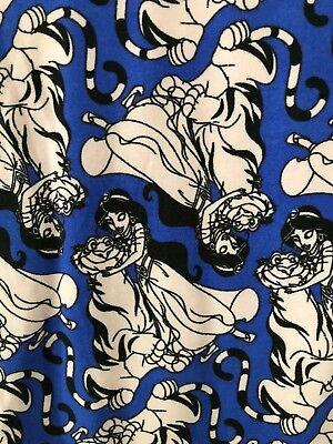 NWT LuLaRoe TC Disney Princess Jasmine & Raja Leggings Blue Black & Pink - Princess Jasmine Leggings