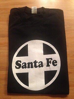 Vintage Dead Stock Santa Fe Logo Freight Train Tee Shirt Mens Railroad train Train Mens Tee