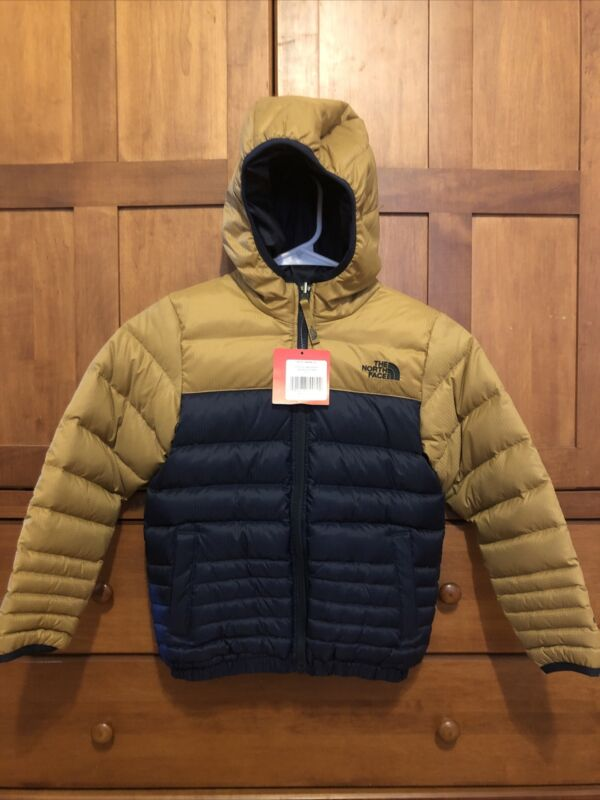 The North Face Boys Hooded Down Jacket REVERSIBLE Puffer 550 Rating Size XS 6