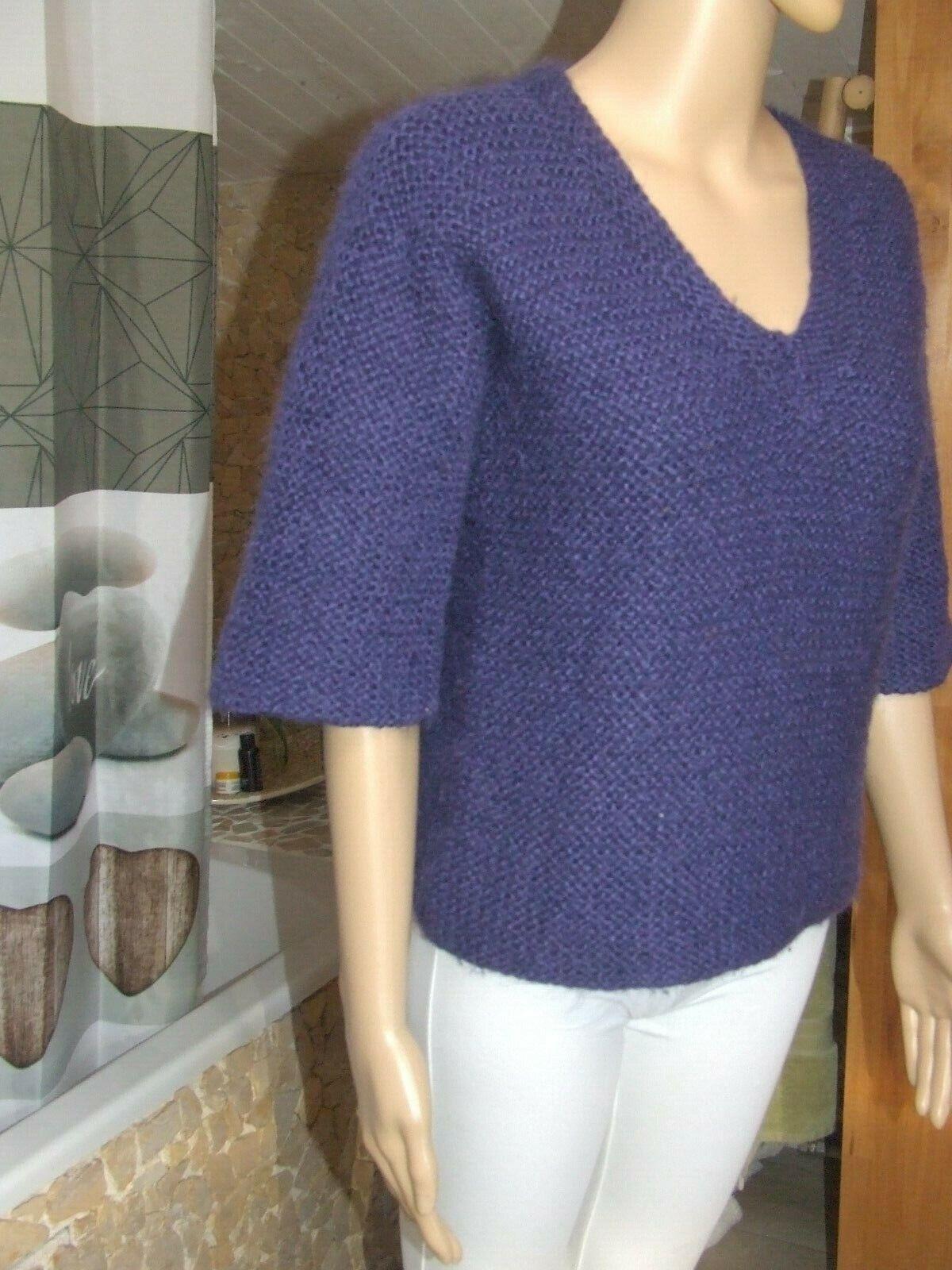 Magnifique pull  tricoté main  mohair mélanger  phildar  taille 38 parfait état