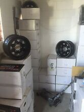 Black steel rims all sizes all 4 x 4's all offsets from $79  St Marys Penrith Area Preview