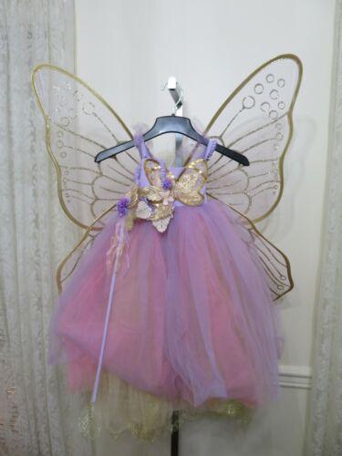 Pottery Barn Kids Lavender Butterfly Fairy Kids Halloween Costume 4-6 Year NEW