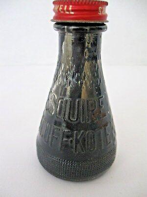 ESQUIRE SHOE POLISH Scuff Kote Black 2oz Bottle with Applicator Lid Vintage