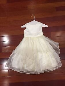 White flower girl/communion dress