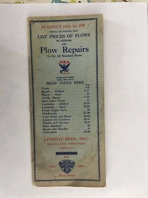 1935 moore BOOKLET~PRICES PLOW parts BOOKLET~ CASE deere OLIVER~