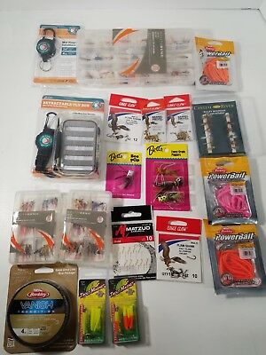 Trout Fishing bundle Berkley South Bend Boomerang Power Bait Flies Crystal River
