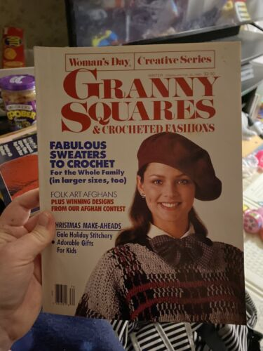 Woman s Day Granny Squares Crocheted Fashions- Winter 1988 - $1.50