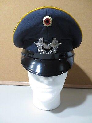 Vintage West German Air Force Uniform Visor Cap Dress Hat Bamberger Sz 60 (P2857