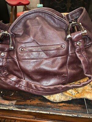 B. Makowsky Leather Handbag Pre Owned