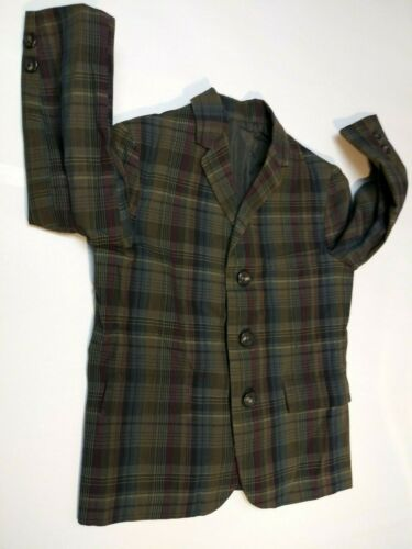 RARE TREASURE JACKIE TOT Vintage boys plaid jacket EXCELLENT CONDITION LEE-WALD