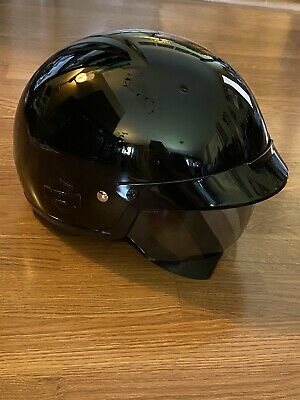 Harley Davidson Mens HD-H03 Half Motorcycle Helmet Glossy Size Medium