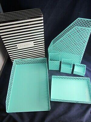 Blu Monaco 6 Piece Desk Organizer Set Office Supplies Green New In Box