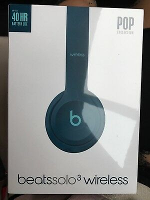 BNIB Beats by Dr. Dre Beats Solo3 Headband Wireless Headphones- Pop Blue RRP£249